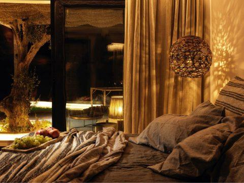 Panoptis Escape Mykonos - The Panoptis Honeymoon retreat with private pool- bedroom night